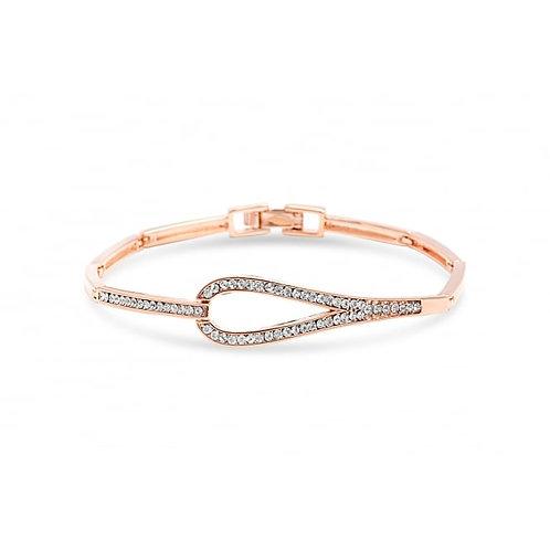 Rose Gold Bracelet With Circular Link
