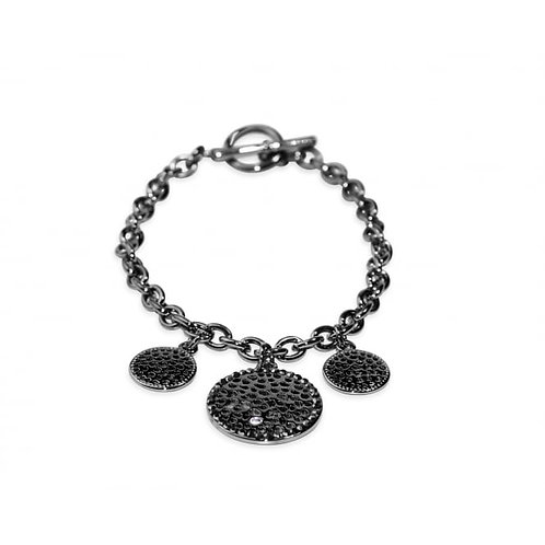 Gun Metal Link Chain Bracelet