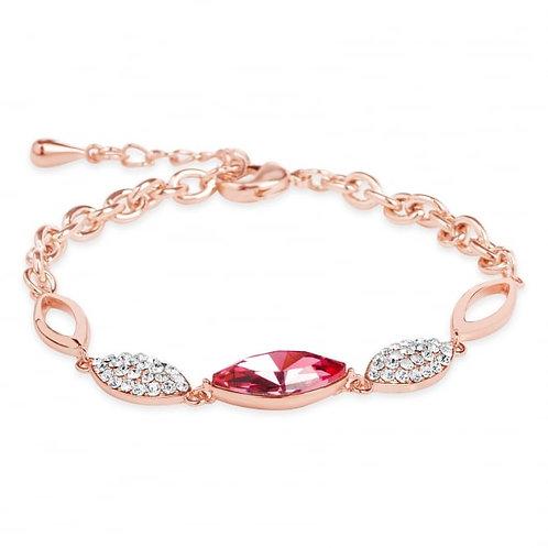 Delicate Rose Gold Plated Link Bracelet