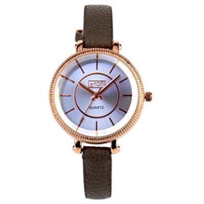 Grey Cut Bezel Watch