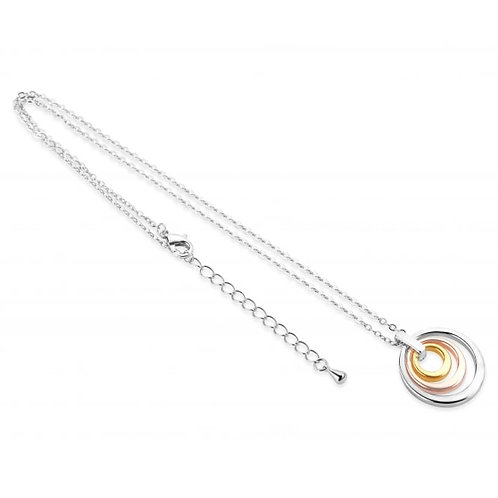 Stylish 3 Tone Plated Necklace