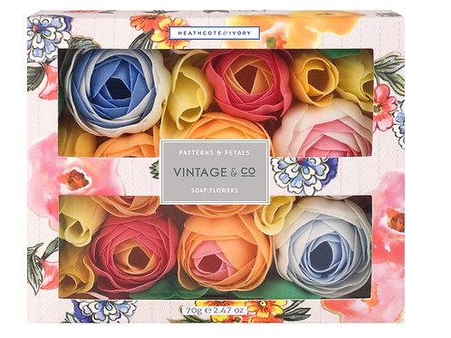 Vintage & Co. Patterns & Petals Bathing Soap Flowers
