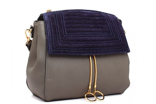 Hooped Grey Cross Body Bag
