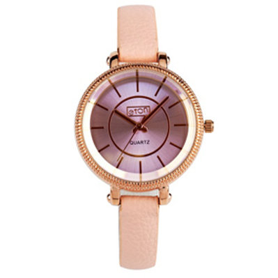 Blush Pink Cut Bezel Watch