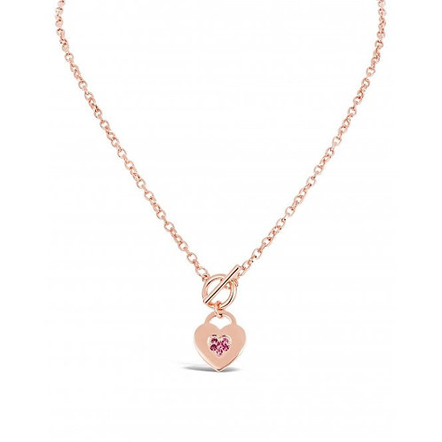 Czech Rose Crystal Heart Rose Gold Plated