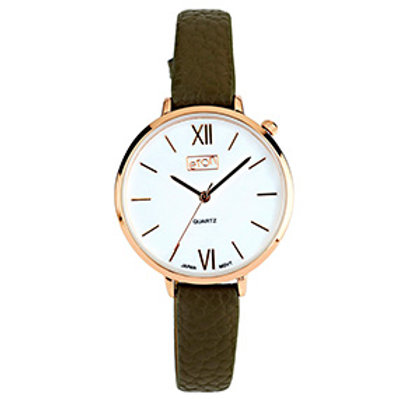 Chic Olive Strap Watch