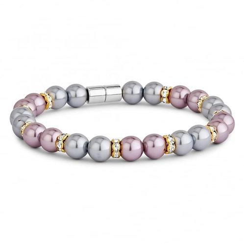 Pearl & Crystal Magnetic Bracelet