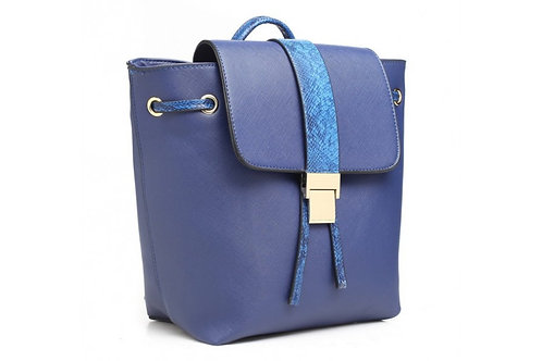 Blue Reptile Accent Backpack