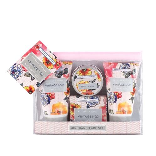 Vintage & Co. Patterns & Petals Mini Hand Care Gift Set