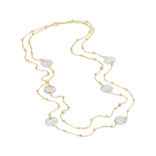Matt Gold Plated Long Necklace