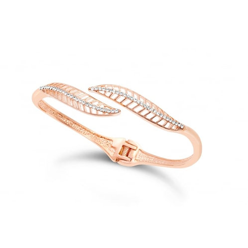 Rose Gold Plated Leaf Bracelet