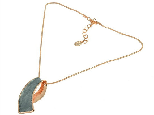 Stylish Enamel Pendant Necklace