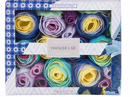 Vintage & Co. Braids & Blooms Soap Bathing Flowers