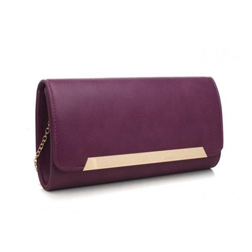 Sleek Purple Clutch Bag