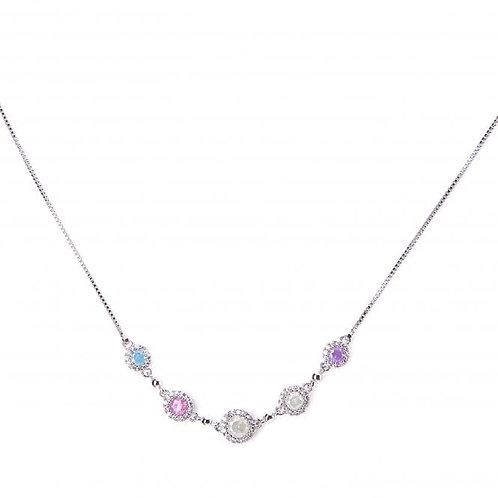 Stylish Rhodium Plated Necklace