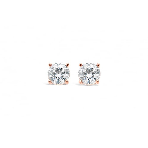 Rose Gold Plated Earrings With Cubic Zirconia