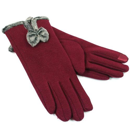 Bow Glove - Dark Red
