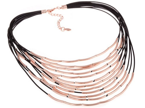 Multi Layers Rose Gold Tubes Necklace