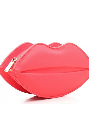 Lush Coral Lips Clutch Bag