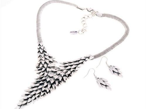 Stylish Chunky Alloy Necklace & Earrings Set