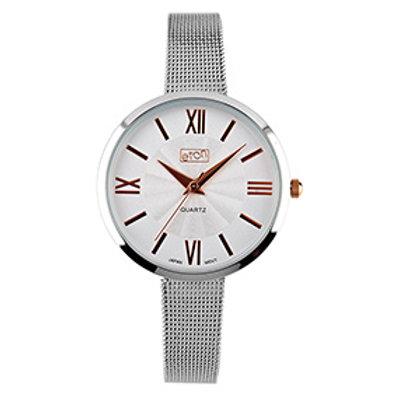 Silver Mesh Strap Watch