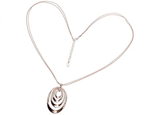 Rose Gold Loops Pendant Necklace