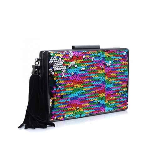 Sequined Glamour Clutch Bag