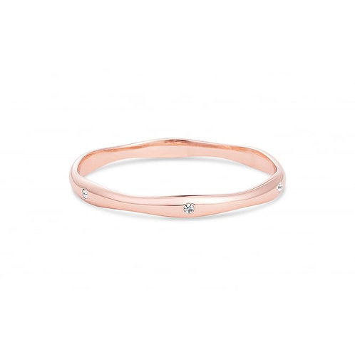 Solid Rose Gold Bracelet With Crystal Stones