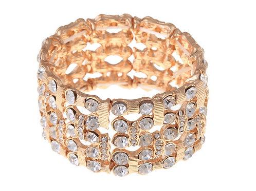 Crystal Detailed Gold Bracelet