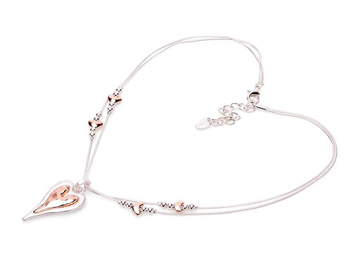 Stylish Silver & Rose Gold Colour Necklace