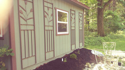 cabin garden bed