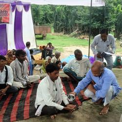 Oath taking during Yoga camp at village Kursi