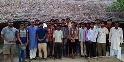 Students of IIT Delhi meeting artisans during training