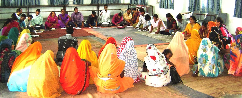 Meeting group leaders at Manavodaya
