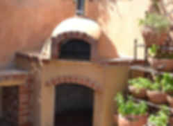Built in pizza oven