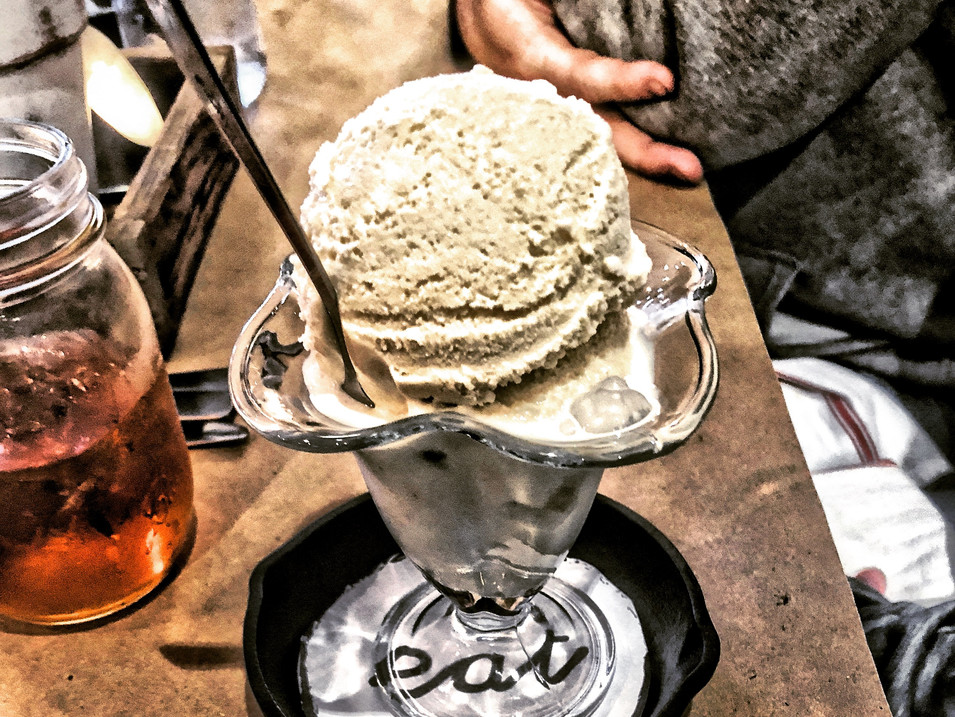 new fashioned ice cream from jake's. 8 gourmet flavors.
