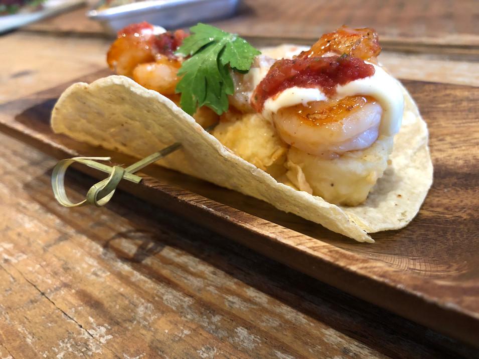 shrimp & grit taco