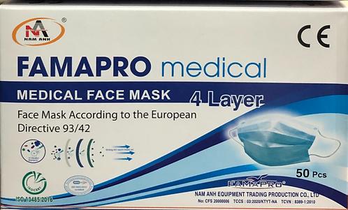 Mascarilla quirurgica 4 capas Tipo II R.Caja 50 Unidades