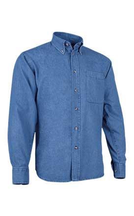 Camisa  en tejido demin  100% algodón