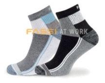 Calcetín Treviso pack 2 color azul/gris