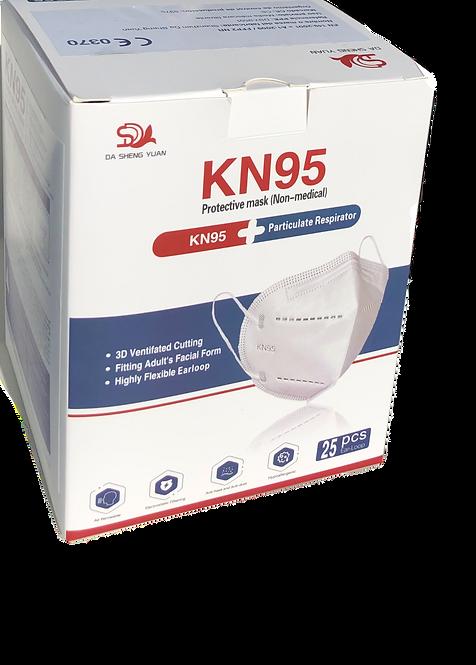 Mascarilla FFPII - KN95 .Embolsado individual. Caja 25 unidades