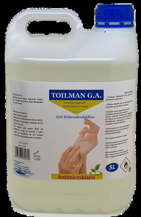 Gel Hidroalcoholico 5 litros.Palet 128 garrafas