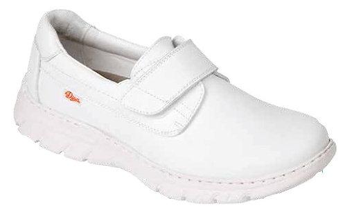 Zapato  tipo blucher cierre velcro,blanco