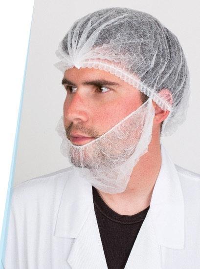 Cubre barbas polipropileno 10 grs. Caja de 1.000 Unidades.