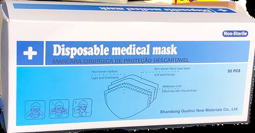 Mascarilla quirurgica triple capa Tipo II R.Caja 2000 Unidades