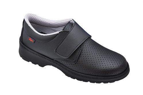 Zapato  microfibrana técnica picada,negro.