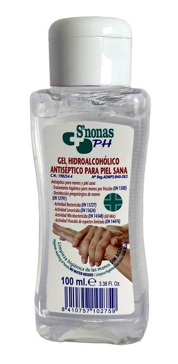 Caja Gel Hidroalcoholico  sanitario S´Nonas  100 ml.