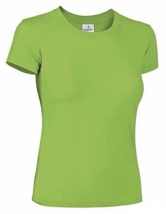 Camiseta Paris de mujer, cuello redondo, 100% algodón