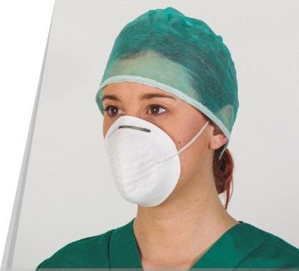 Gorro de cirujano de polipropileno con cintas .Caja  1.000 Unidades