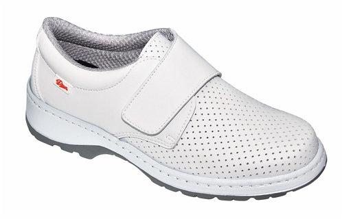 Zapato  microfibrana técnica picada,blanco.